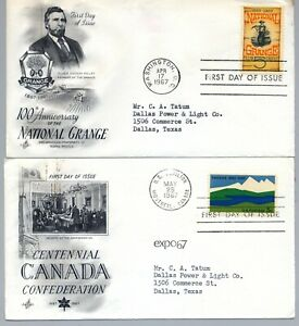 U.S. Set of 4 First Day of Issue Cachet Covers (STAMP, HISTORY, BOAT, RADIO)