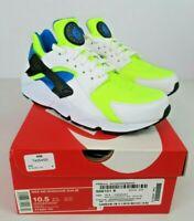 Nike Air Huarache Run SE White Volt Black Running Shoes AT4254-101 Mens 10.5 NIB
