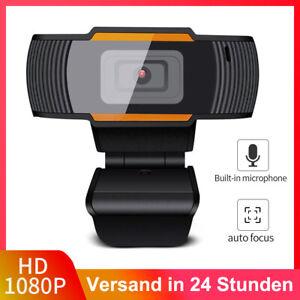 USB Webcam 1080p HD mit Mikrofon WebKamera für Videochat Aufnahme PC Windows Mac