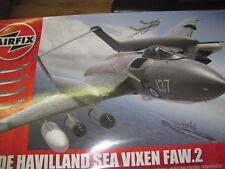 AIRFIX DE HAVILLAND SEA VIXEN 1/48 PLASTIC KIT + EDUARD AIRES QUICKBOOST CMK