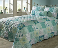 PAIR COUNTRY GARDEN PILLOW SHAMS by RINGLEY HOME COLLECTION 50cm x 75cm TEAL new