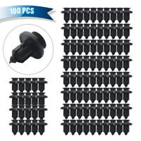 100x Plastic Car Door Clip Trim Bumper Rivet Screws Panel Push Pin Fastener Kit