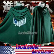USA New Attack on Titan Shingeki no Kyojin Scouting Legion Cosplay Cloak Cape