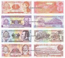 Honduras 1 + 2 + 5 + 10 Lempiras Set of 4 Banknotes 4 PCS UNC