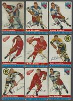 1954-55 Topps Hockey Cards Near Set of 55/60