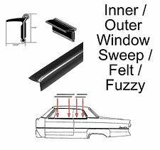 "Universal Window Sweep / Fuzzy / Felt - Inner or Outer - 11/16"" Tall"
