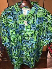 Disney Polynesian Trader Sams Grog Grotto Enchanted Tiki Room Hawaiian Shirt L