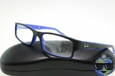 Ray-Ban RX Eyeglasses RB 5246 5224 Matte Black/Blue Flex Hinge Frame [52-16-135]