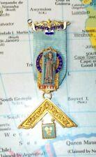 Seltenes Freimaurer-Bijou St. Ninian massiv Silber rare masonic jewel