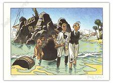 Affiche Le Gall Théodore Poussin naufrage + Carte postale 150ex signé 28x38