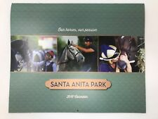 2018 CALENDAR SANTA ANITA RACETRACK DIFFERENT PHOTO EACH MONTH 13.5 X 11 IN