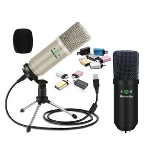 Professional Condenser Microphone Kit,For Mobile Phone Laptop Live Streaming Mic