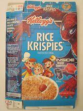 Kelloggs Cereal Box 2002 Rice Krispies 13.5 oz SPIDER-MAN