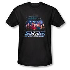 Star Trek: The Next Generation Main Crew/Cast Space Group T-Shirt NEW UNWORN
