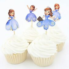 24 X Sofia the First toppers Cupcake Cup Cake Topper  decoration Disney Princess