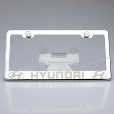 Mirror Polished Stainless Steel Laser Engrave License Plate Frame Holder Hyundai