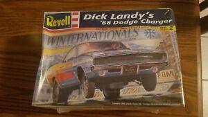 REVELL DICK LANDYS '68 DODGE CHARGER MODEL CAR KIT 1:25 SCALE KIT# 85-2573