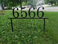 Custom Metal Address Yard Sign