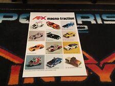 1970s Afx Magna-Traction Slot Car Poster  Vintage toy slot cars magnatraction