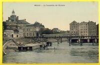 CPA France 77 - MEAUX (Seine et Marne) La PASSERELLE de L'ECHELLE Moulin Lavoir