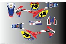 HONDA CR CRF 85 150 125 250 450 MOTORCROSS FULL GRAPHICS KIT-DECALS-STICKER KI