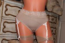 WARNER'S /OLGA coffee nylon microfiber  mid rise panties knickers size M