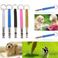 Adjustable Pitch Pet Dog Training Whistle Silent Ultrasonic Supersonic Key Chain
