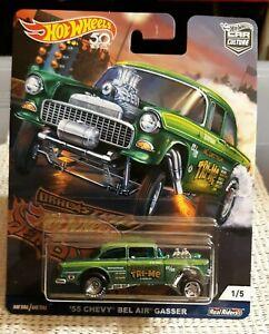 Hot Wheels '55 Chevy Gasser Drag Strip Demons Tri-Me Green