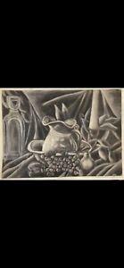 Charcoal Still Life - Medium sized - Original Piece by Artist