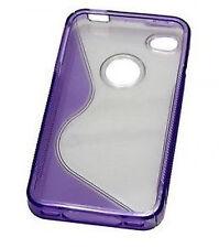 Cover Apple iPhone 4 4S Back Schale Backcover Case transparent violett lila