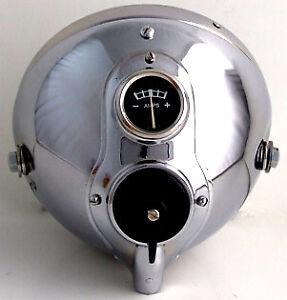 Headlight Headlamp Assemblies ROYAL ENFIELD, BSA, Norton, ARIEL ( Chrome )