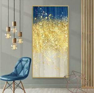 """YA060 Art canvas Hand-painted abstract gold foil oil painting Unframed 24""""x48"""""""