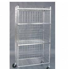 "Grainer International 1DYF3 36-1/2""L x 18-1/4""W x 70""H Chrome Steel Wire Cart"