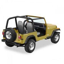 Jeep Wrangler YJ Barra de rodillo acolchado Negro Tela vaquera 92-95