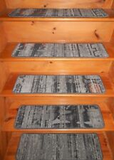 "14 Step  9'' x 30''  + 1  Landing 27"" x 30""  Art- Dec Nylon Carpet Stair Treads"