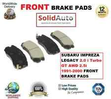 FOR SUBARU IMPREZA LEGACY 2.0 i Turbo GT AWD 2.5i 1991-2000 FRONT BRAKE PADS SET