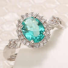 0.85 CT Natural Topaz Ring 925 Silver Women Fashion Wedding Engagement Size 9