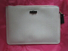 """Marc by Marc Jacobs 13"""" Laptop Sleeve Case Perforated Leche NEW"""