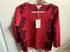 Monsoon Top Size 12 Berry Colour 3/4 Sleeves New