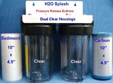 """Big Blue 10"""" Dual (Clear) Whole House Water Filter / RO"""