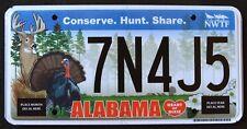 "ALABAMA "" CONSERVE WILDLIFE DEER TURKEY BIRD HUNT "" AL Specialty License Plate"