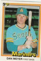 FREE SHIPPING-MINT-1981 Donruss  #43 Dan Meyer Seattle Mariners