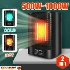 EU 2IN1 Mini Heizlüfter Heizgerät Heizung Schnellheizer Elektro Kalt & Warmluft
