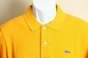 LACOSTE Men's solid gold short sleeve polo shirt 4 M S