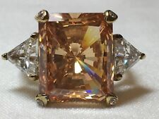 Norma Shearer Gem Stone Estate Vintage 925 Silver Pink Ring Hollywood Collection
