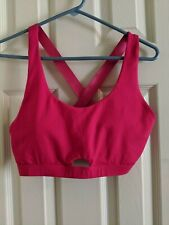 Fabletics Sports Bra Electra Seamless Kate Hudson Stretch Size M Cosmo Hot Pink
