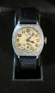 "Vintage 1928-29 Bulova ""CONQUEROR"" Watch. 15J 14K GF. Runs, Keeps Time. 10AN"