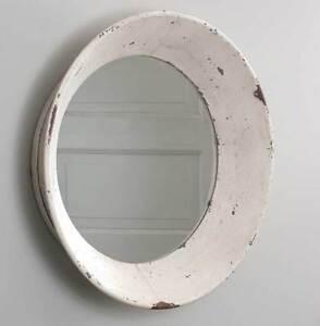 Large Industrial Primitive Farmhouse  16 inch Round Dutch Wall Mirror  SALE!