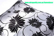 4  X NEW Silver Flo CUSHION COVERS WITH ELEGANT VELVET PATTERN
