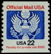 1985 22c Eagle Official Mail Usa Red & Blue Scott O136 Mint F/Vf Nh
